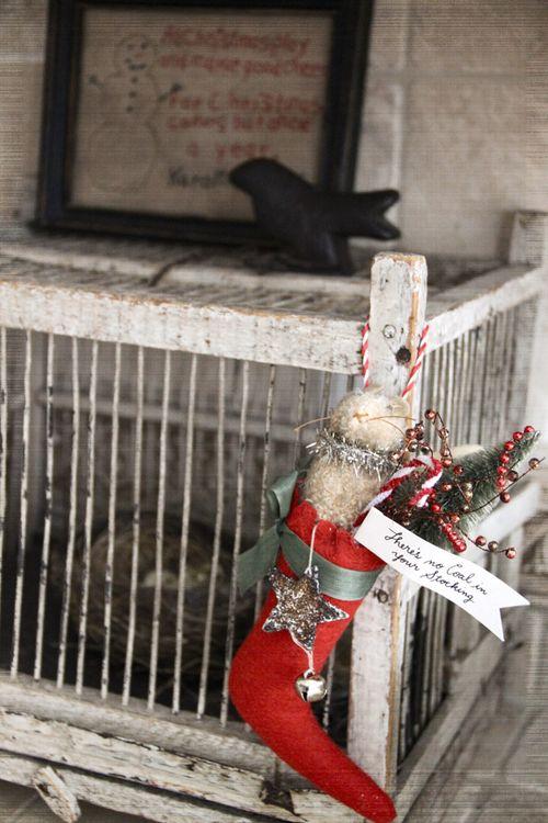 Birdcage with stocking