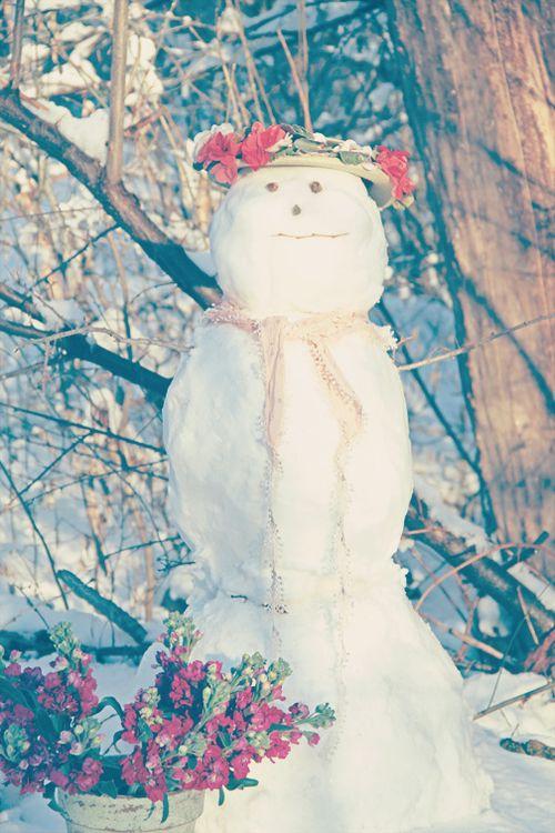 Vintage Snow Girl